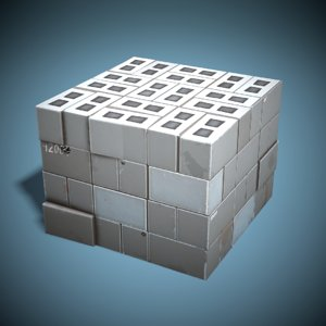 stylized cinder blocks ready 3D model