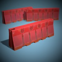Plastic Barrier Game Ready Low Poly
