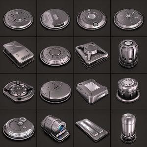 3D sci fi kitbash 03