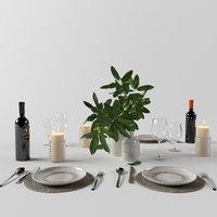 3D restaurant set corona model