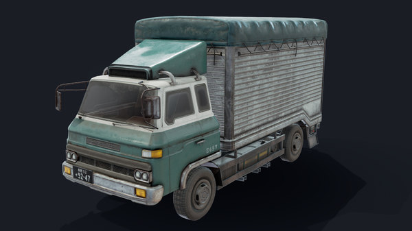 porter truck vehicle 3D model