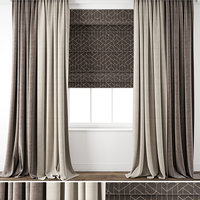 contemporary curtain 3D