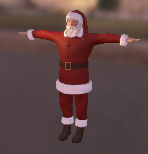 3D model christmas santa characters