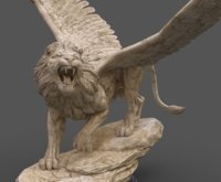 Winged Lion Sculpture Statue Daniel 7 Beast