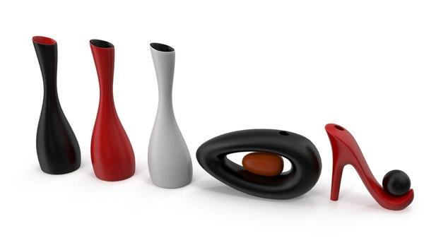 3D model decorative vase set