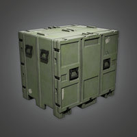 Military Crate Container - MLT - PBR Game Ready