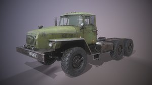 3D russian heavy truck