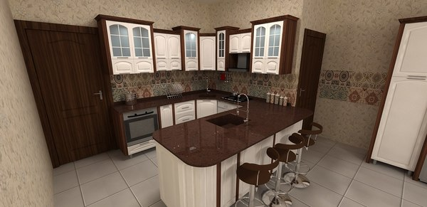 3D kitchen decor model