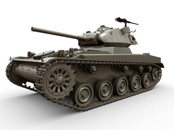 3D amx-13 chafee model