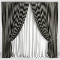 3D contemporary curtain model