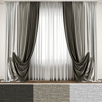 3D model contemporary curtain