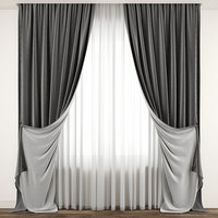 3D contemporary curtain