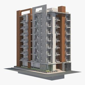 apartment building 38 3D model