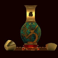 chinese vase 3D