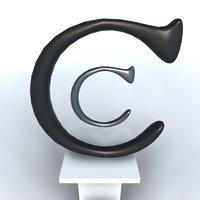 3D Font Click Clack