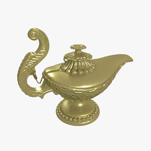 magic lamp 3D model