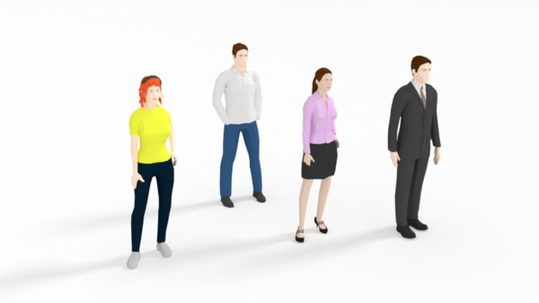 3D people casual