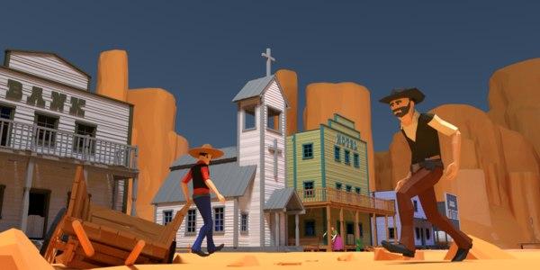 3D western world - model