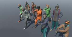 3D project world - stylized characters model