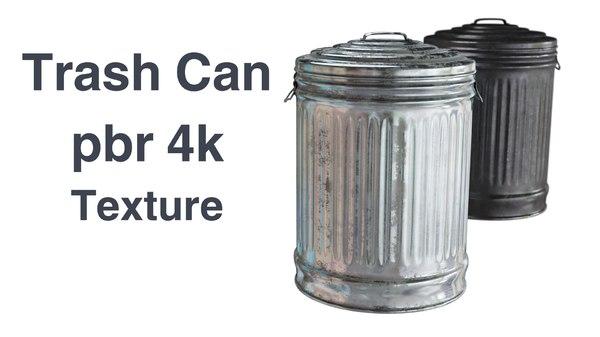 3D trashcan 4k pbr