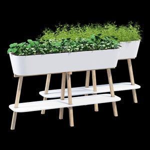 flowerlover flowerpot wooden model