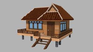 house beach 3D model