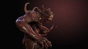 3D character demonheavy