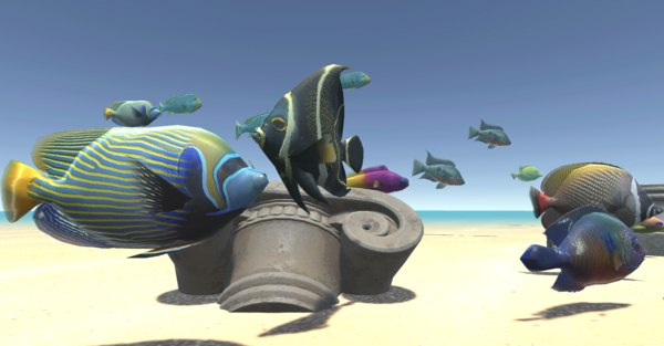 3D fish animations model