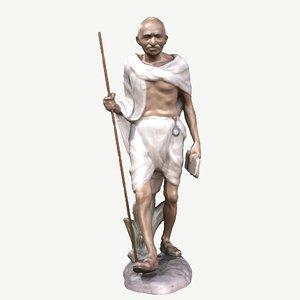 3D model sculpture gandhi