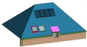 roof elements - parametric 3D model