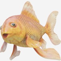 goldfish fish gold 3D model