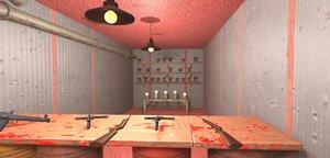 3D model games shooting gallery