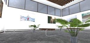 3D showroom environment -