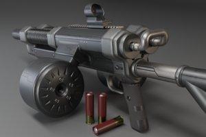 gun shell metallic 3D model