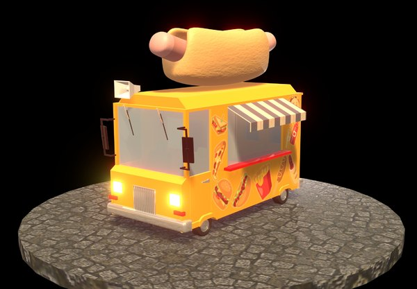 3D hot dog car model