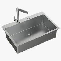 realistic sink mira mixer 3D