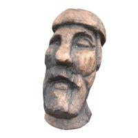 carved head odin 3D model