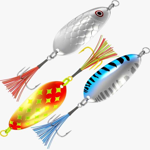 3D fishing spoons model