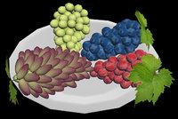 fresh juicy grapes 3D