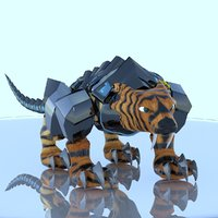 3D armored tiger