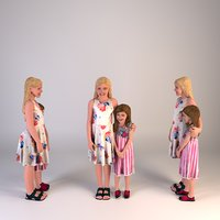 Child Girls 3d Scan
