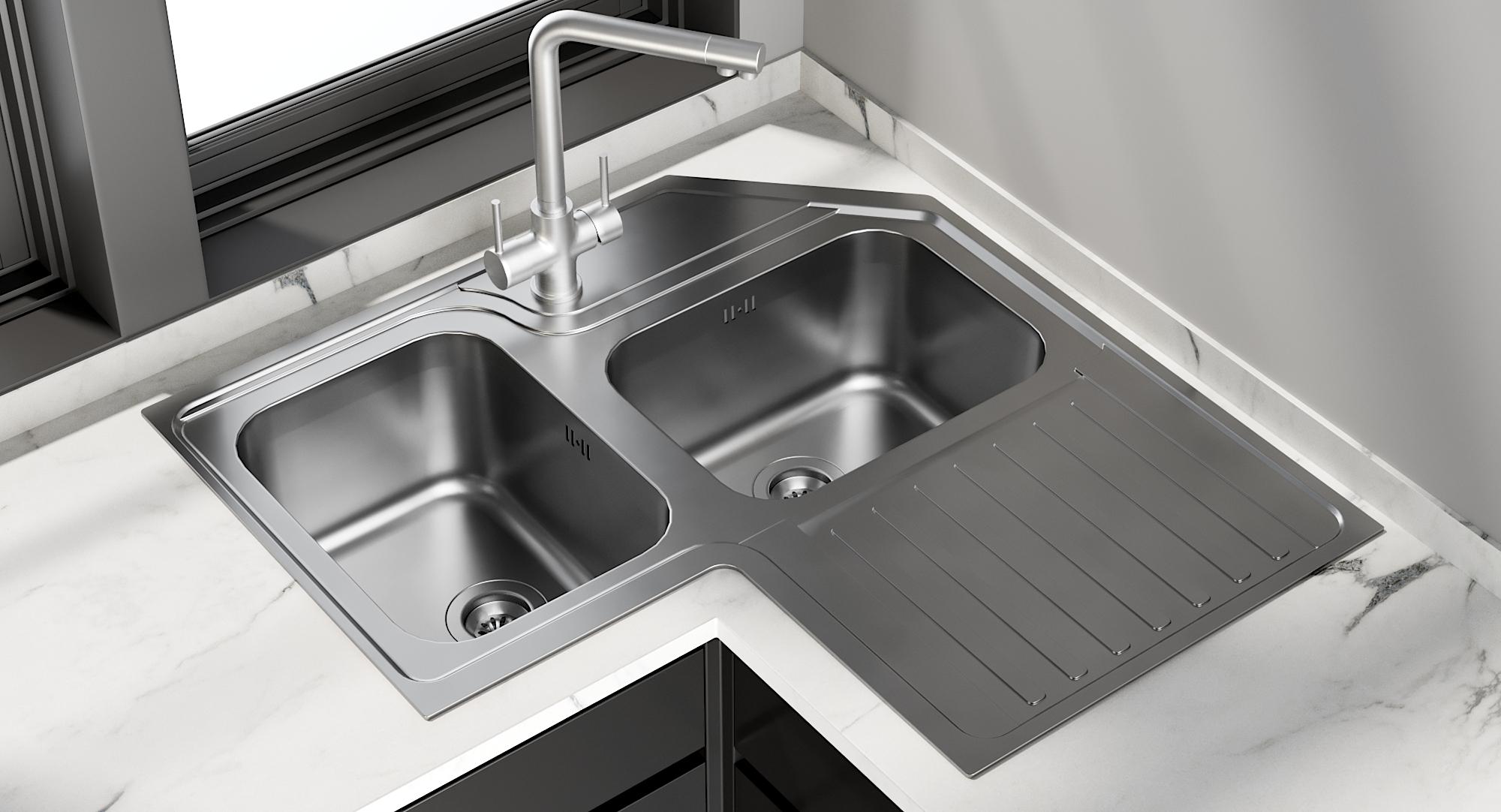 Realistic Sink Alba Mixer Model