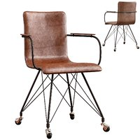 colt leather office chair 3D model