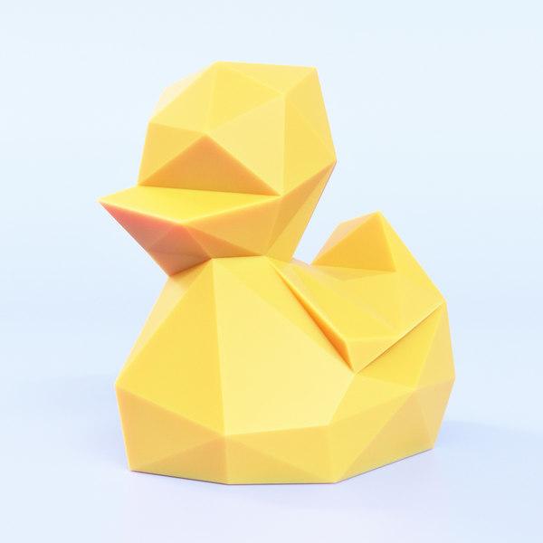 3D duck duckling model