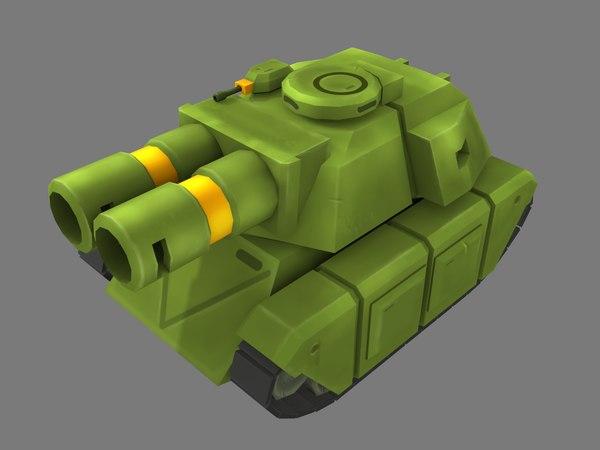 super tank 3D model