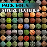 Stylized Texture Pack - VOL 5