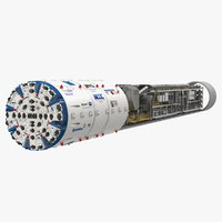 3D nora tunnel boring machine