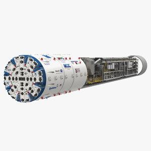 3D nora tunnel boring machine