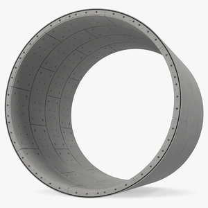 concrete slab tunnel 3D model