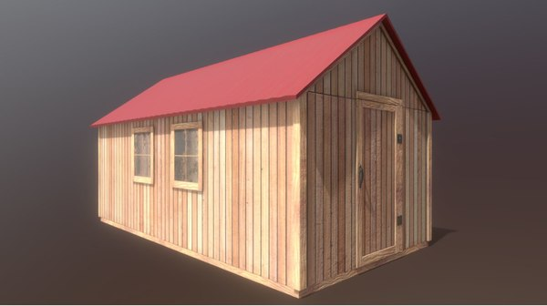 modular shed 3D model